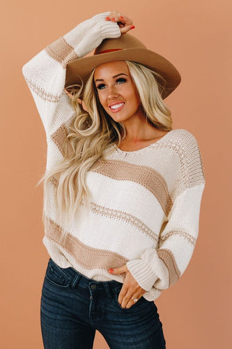 Lantern Sleeve Knit Sweater