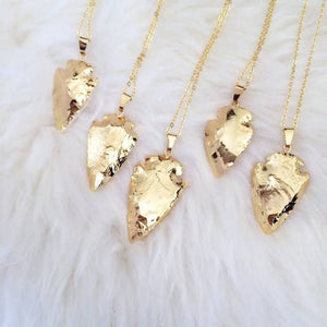 Small Gold Plated Arrowhead Necklace
