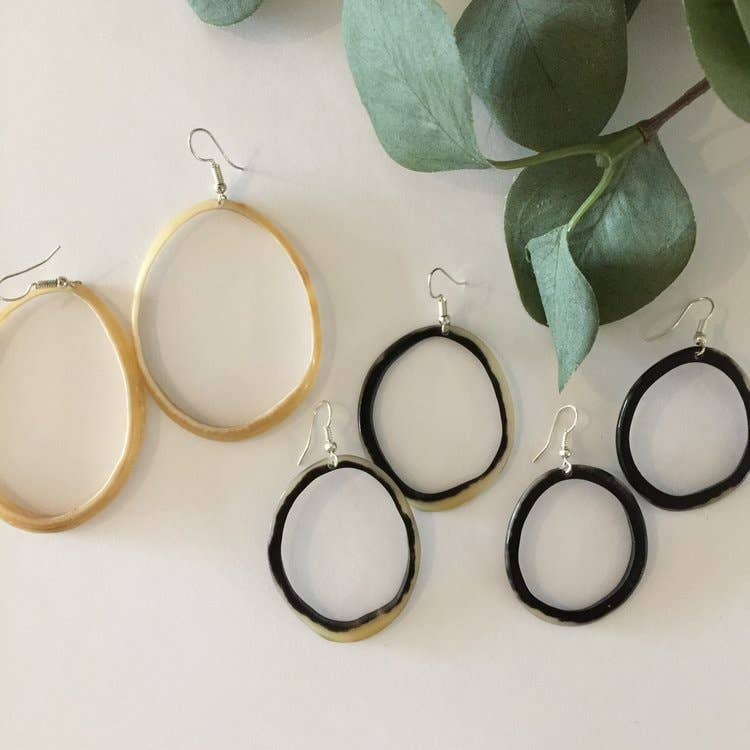 Polished Horn Hoops