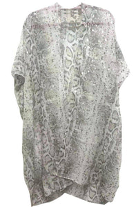 Pretty Python Kimono in Light Grey