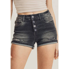 Load image into Gallery viewer, Stone Distressed Cuffed Shorts