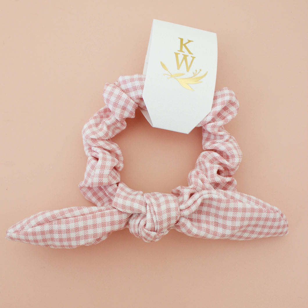 Mini Bow Gingham Scrunchie
