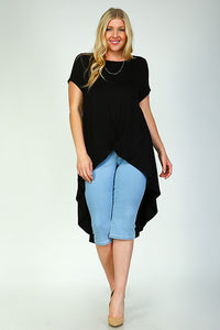 FINAL SALE - high low tunic top