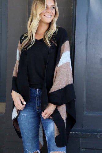 Black + Taupe Cape