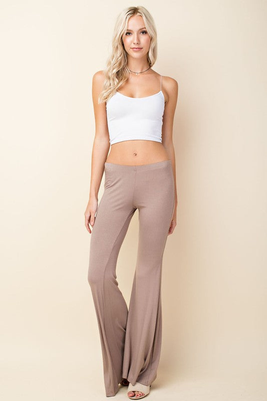 FINAL SALE - Wine Colored Bell Yoga Pant