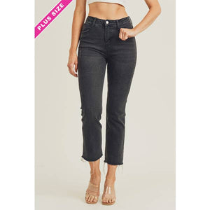 Raw Hem Ankle Crop Jean // Beauties