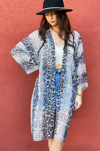 FINAL SALE - Snake Charmer Kimono in GRAY