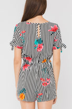 Load image into Gallery viewer, Striped Floral Romper