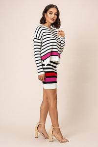 FINAL SALE - Stripe Knit Skirt
