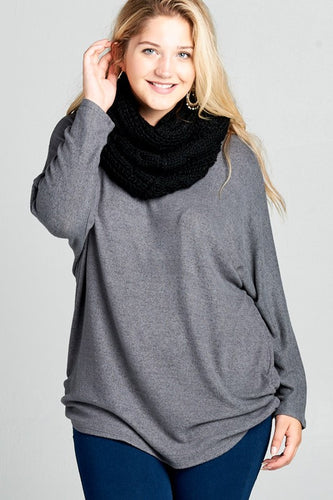 FINAL SALE - Criss-Cross Back Dolman Sweater