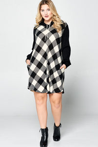 FINAL SALE - White Buffalo Plaid Tunic Dress