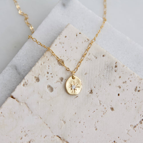 Oval Star Necklace