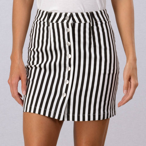 Ditzy Front Button Mini Skirt