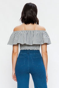 FINAL SALE - Off the Shoulder Ruffle Top