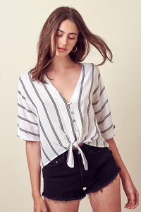 Tori Button Up Tie Top