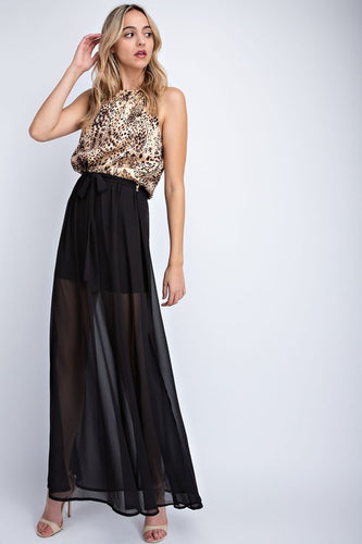 Leopard Print Holiday Maxi