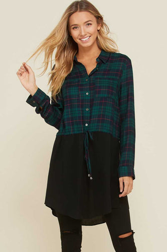 FINAL SALE - Split Personality Plaid Tunic