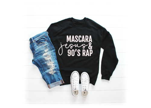 Mascara Jesus and 90's Rap Sweatshirt