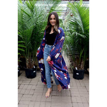 Load image into Gallery viewer, KK Wrap Front Kimono // Blue Floral