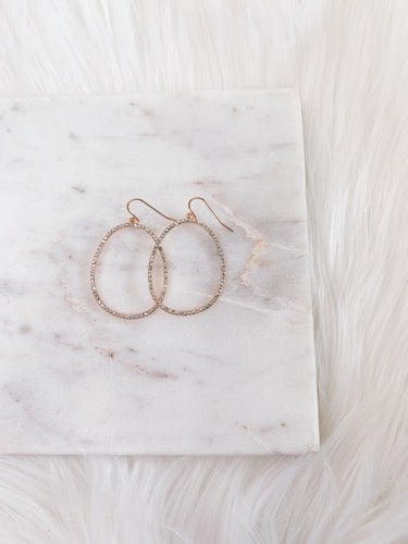 Rose Gold Oval w/ Stones
