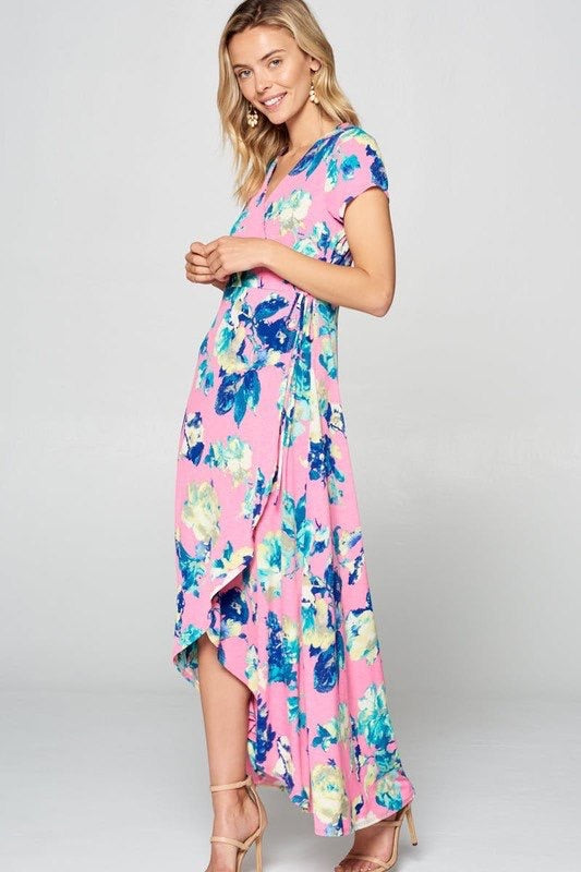 Bubble Gum + Flowers Dress