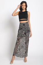 Load image into Gallery viewer, Leopard Maxi Skirt