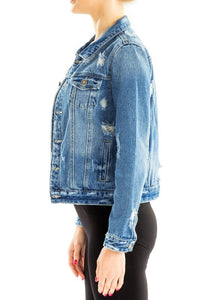 Kellie Distressed Denim Jacket