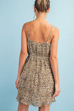 Load image into Gallery viewer, Pleated Leopard Mini Dress