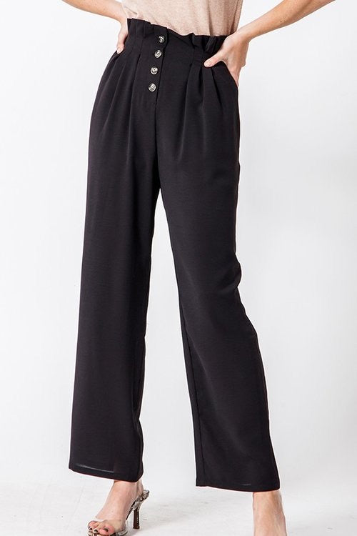 Ruffle Highwaist Crop Pant