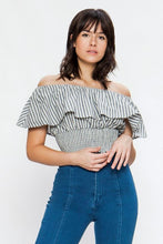 Load image into Gallery viewer, FINAL SALE - Off the Shoulder Ruffle Top