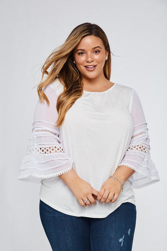 Serenity Lace Bell Sleeve Top // Beauties