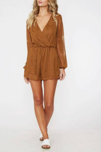 Rust Chevron Romper