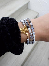 Load image into Gallery viewer, Speckled Agate Triple Wrap Bracelet