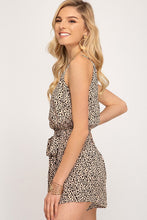 Load image into Gallery viewer, Nude Leopard Print Romper