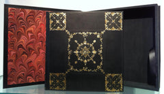 "Ornate Calfskin Bound Album 13"" x 13"" with Companion Presentation Case"