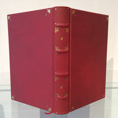 Deep Red Goatskin Journal