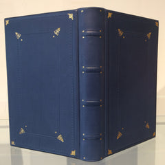 French Blue Journal in Italian Calfskin
