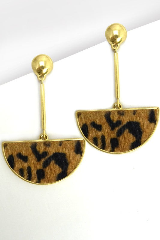 Leapard Statement Earring