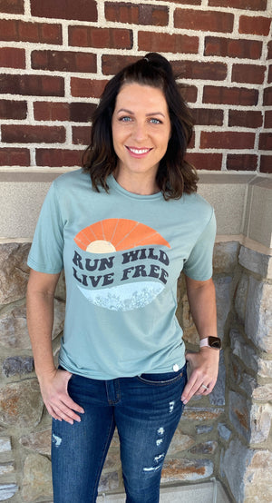 Crowned Free Run Wild Tee