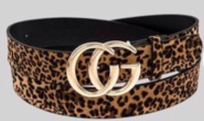 Cheetah Print Dupes Belt- Brown/Black