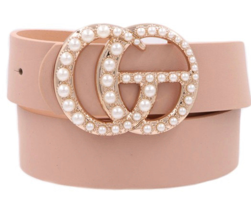 Dupes Pearl Belt- Blush
