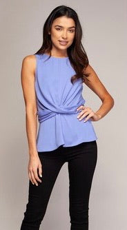 Twist Waistline Sleeveless Top