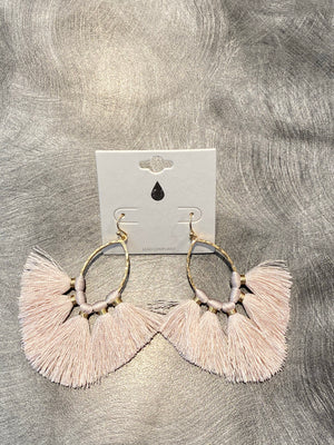 Tassel Earring in Pink