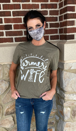 Farmers Wife T-shirt in Olive