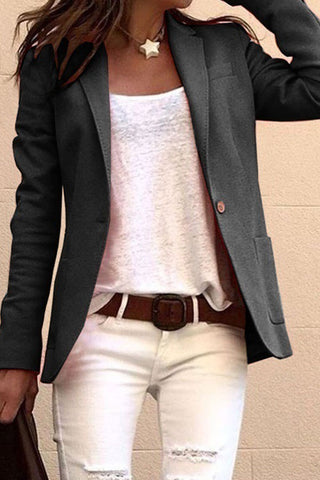 Solid Color Long Sleeve Suit
