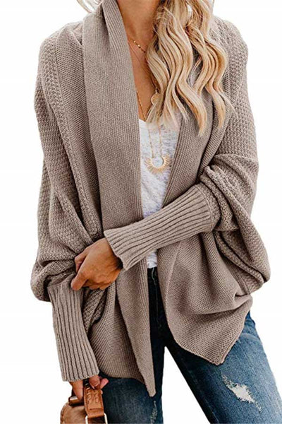 Bat Sleeve Knitted Cardigan
