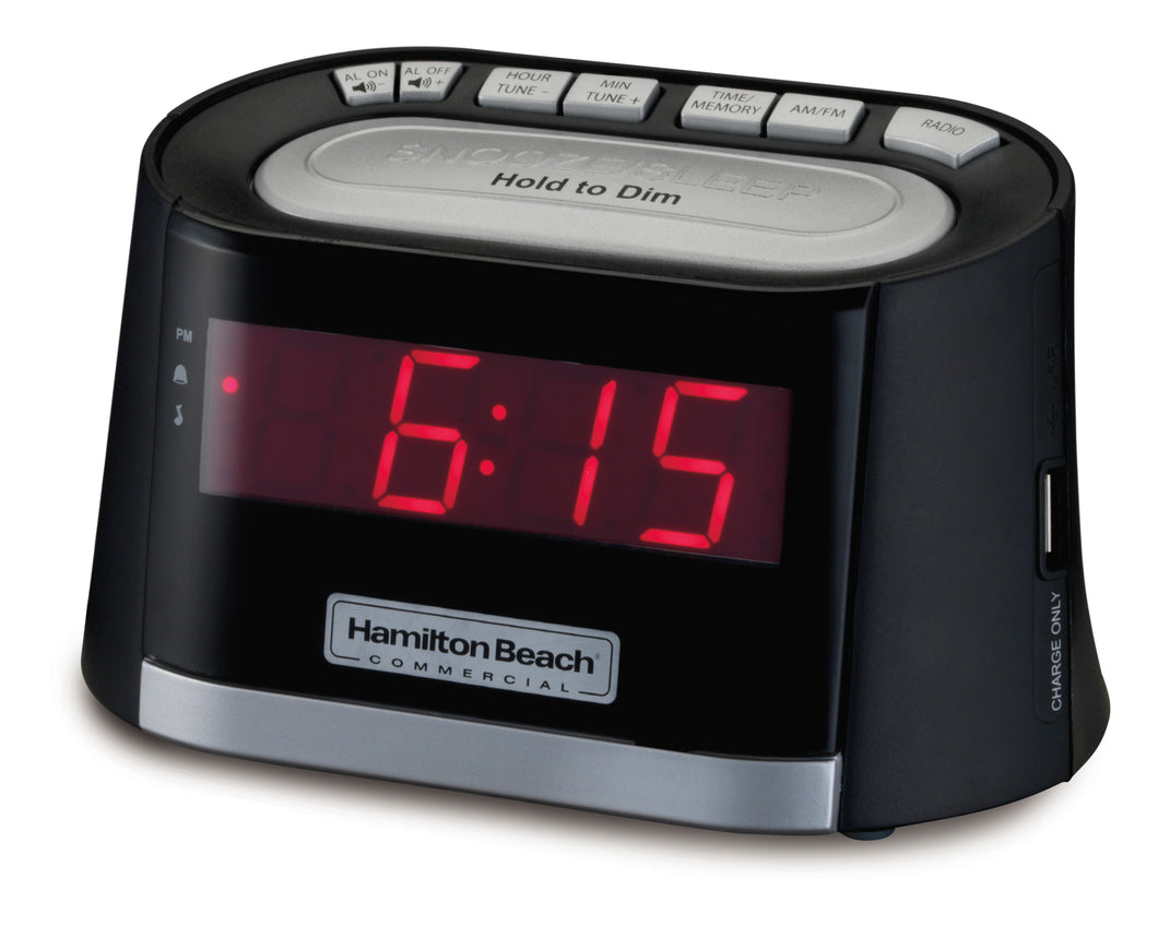 Clock Radio with USB Charging Port