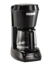 Load image into Gallery viewer, 4 Cup Coffeemaker-Black w/Glass Carafe