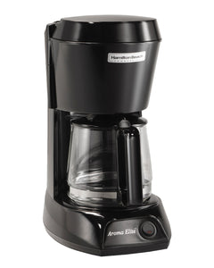 4 Cup Coffeemaker-Black w/Glass Carafe