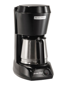 4 Cup Coffeemaker-Black w/Stainless Steel Carafe